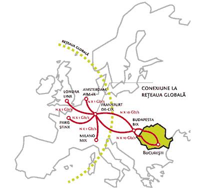 Harta conexiuni Internet