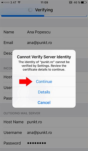 Configurare client e-mail pe iPhone, iPad sau iPod