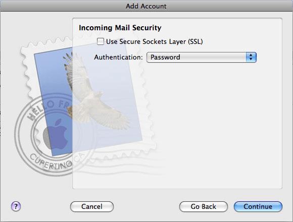 Configurare Apple Mail