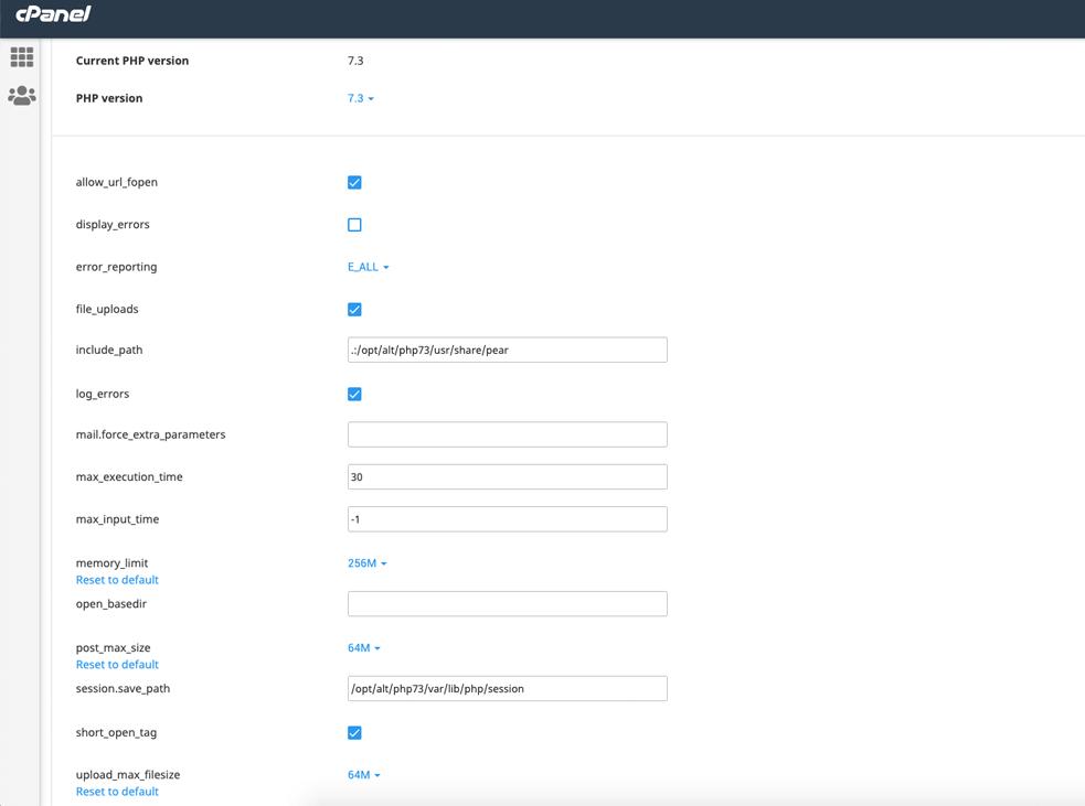 salvare optiuni selectate php in cpanel