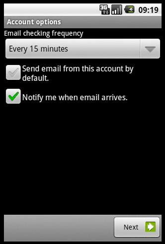 setare primire e-mail la un interval de timp preselectat