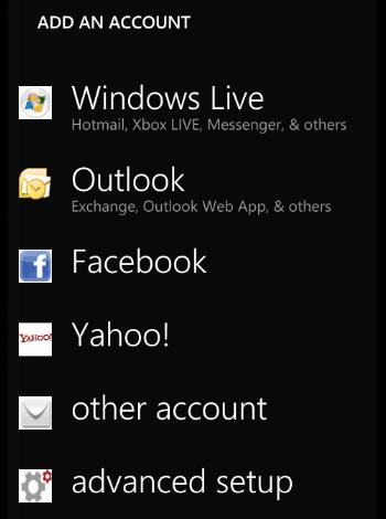 adaugarea unui cont nou de e-mail telefon cu windows