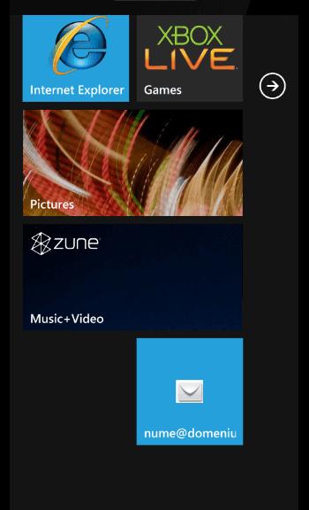 exemplu e-mail creat pe windows phone